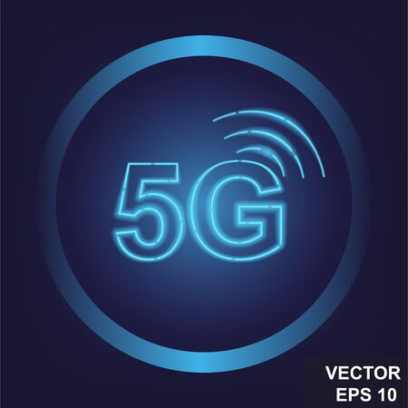 5 G. Modern cellular communications. Fast internet. Icon, logo. For your design.