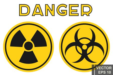 Danger sign. Radiation. Yellow. Stop. For your design.