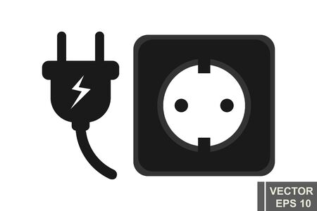 Socket plug. Electricity. Connection. For your design. The icon.