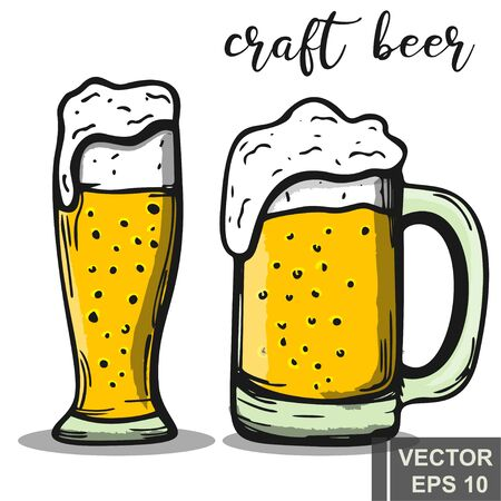 Beer. The icon. Isolated. Alcoholic drink. For your design