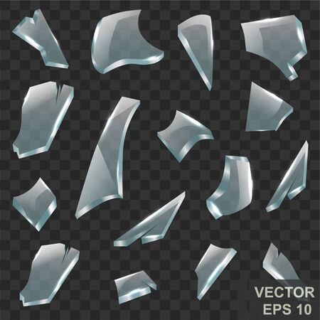 The Shard. Broken glass. Crack. Transparent. For your design. Illustration