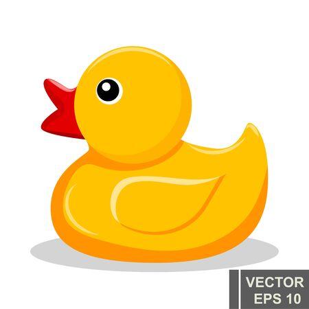Gelbes Gummi-Entlein. Badezimmer. Kinder s. Für Ihre Gestaltung. Vektorgrafik