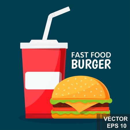 burger icon. Fast food. Isolated object. Food concept.