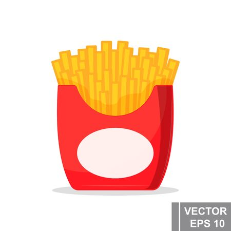 french fries icon. Fast food. Isolated object. Food concept.