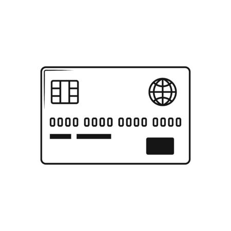 Credit Card icon, in trendy flat style isolated on white background. Illustration