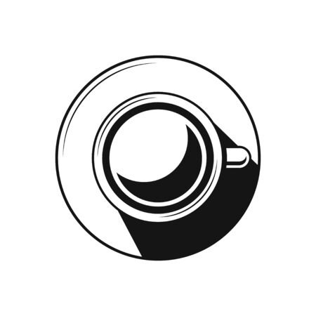 Coffee cup or Tea cup icon Symbol flat design black icon on white background.
