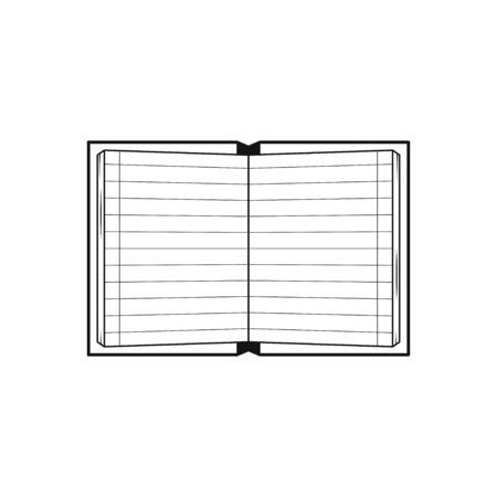 Notebook Black flat design Icon Isolated on white