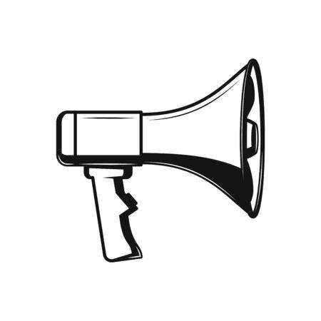 Megaphone icon flat style isolated on white