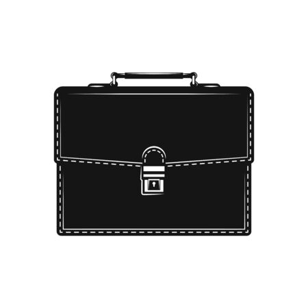 Briefcase icon Symbol flat design black icon on white Vectores