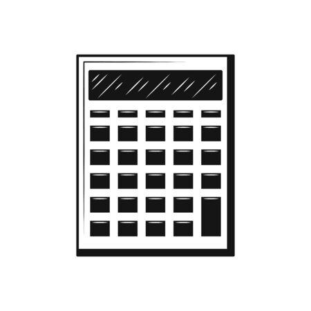 Vector calculator icon Symbol flat design black icon on white