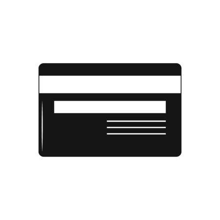 Credit Card icon, in trendy flat style on white background.