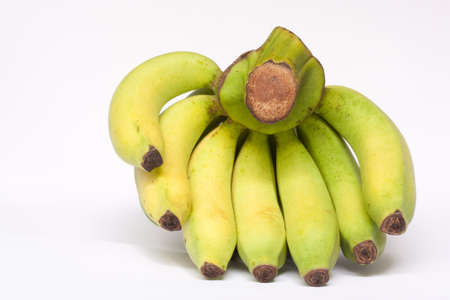 yello: yello banana on white background Stock Photo