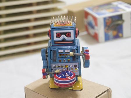tin robot: Tin Robot Stock Photo