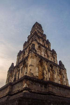 imbedded: Charmtevi temple, Brick pagoda, 1300 years ago.