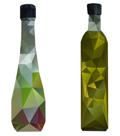 Bottle two design in polygon effect look trendy and modern.  Vector