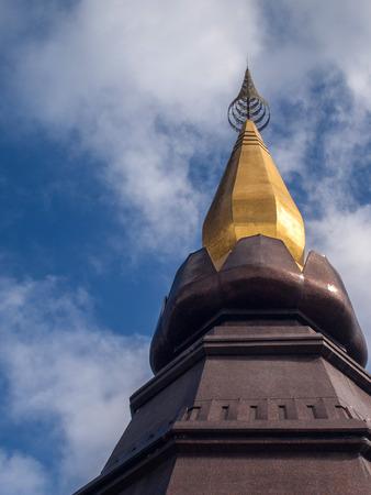 Close-up head of Napamethineedol Pagoda photo