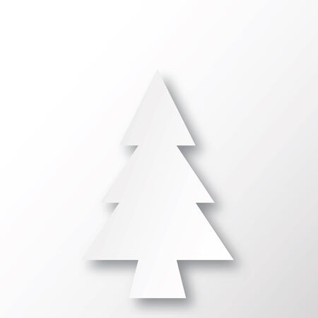 �back ground�: White christmas tree with white shadow back ground.