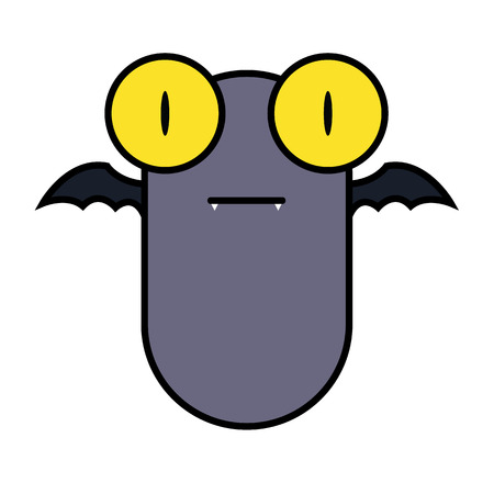 mosca caricatura: Bate grandes del ojo mira dise�o tan lindo de la historieta.