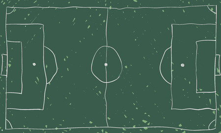 free hand: Free hand drawing football board, chalkboard design. Illustration