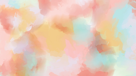 Blue pink and yellow watercolor background. Vector illustration