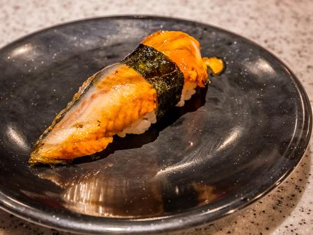 Eel nigiri sushi. Stock Photo