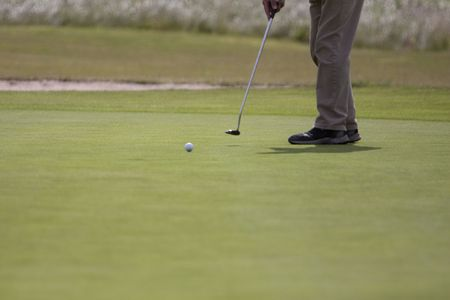 Playing golf Stock Photo - 5190935