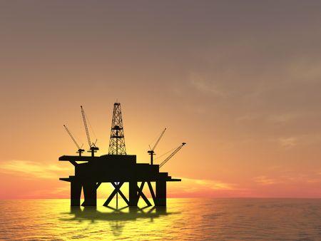 drilling platform: Drilling Platform in sea (see more in my portfolio)
