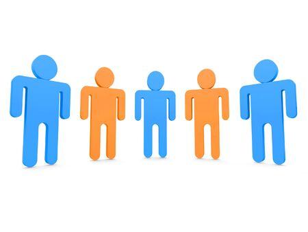 five people: Five people in team 3d