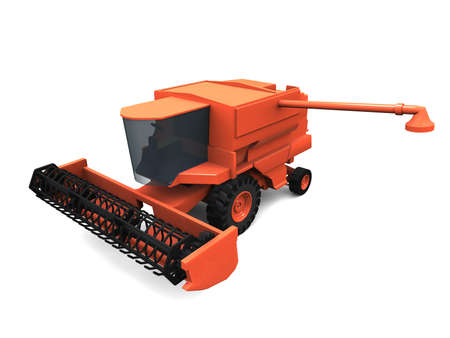 3D model of orange combine Stock Photo - 1470914