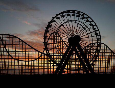 ferris: Ferris wheel and amusement park
