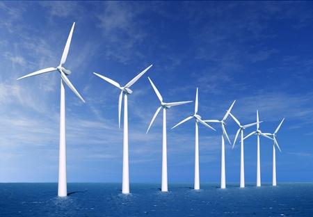 turbina: Viento  Foto de archivo