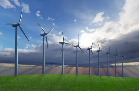 Wind park Stock Photo - 9052288