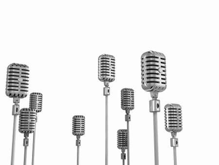 retro microphone: Microphones