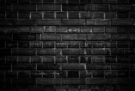 Old Black brick wall, Background material