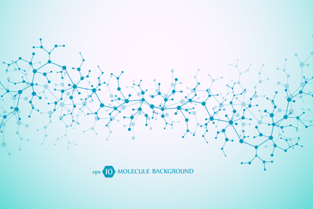 Molecular concept of neurons and nervous system. Scientific medical research. Vettoriali