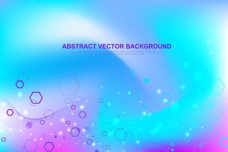 Futuristic abstract vector background blockchain technology. Deep web. Peer to peer network business concept. Global cryptocurrency blockchain vector banner. Waves flow. Illustration