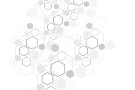 Hexagonal geometric background. Hexagons genetic and social network. Future geometric template. Business presentation for your design and text. Minimal graphic concept. Vector illustration. Illustration