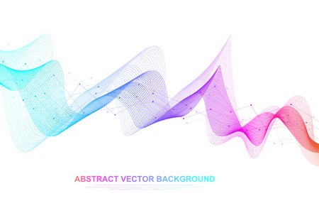 Abstract colorful wave lines background. Geometric template for your design brochure, flyer, report, website, banner. Vector illustration Illustration