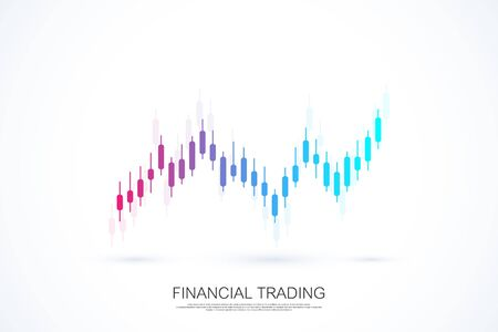 Stock market or forex trading business graph chart for financial investment concept. Business presentation for your design and text. Economy trends, business idea and technology innovation design