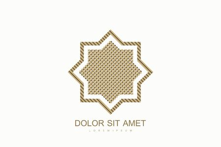Arabic vector design template style. Arab Emirates Dubai flat icon . Emblem for luxury products, boutiques, jewelry, oriental cosmetics, hotels, restaurants, shops, stores. 向量圖像