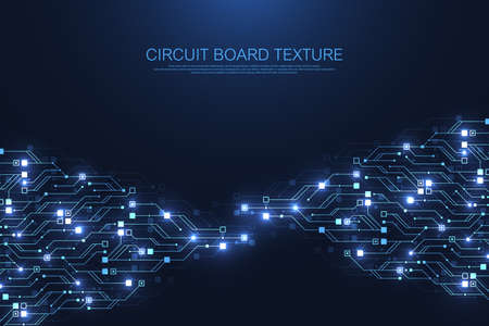 Circuit board technology background with hi-tech digital data connection system. Abstract computer electronic desing background. Motherboard hi-tech, science, futuristic technology vector illustration Illusztráció