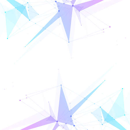 Abstract plexus background with connected lines and dots. Wave flow. Plexus geometric effect Big data with compounds. Lines plexus, minimal array. Digital data visualization, illustration Stock fotó