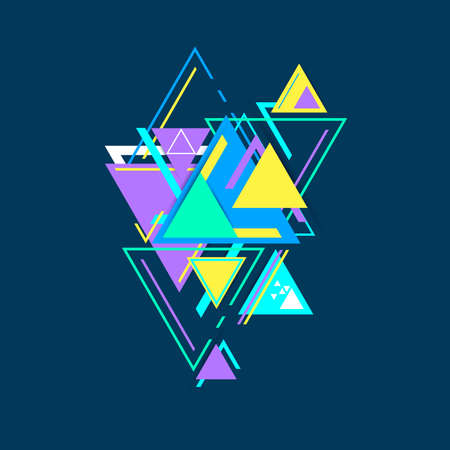 Modern hipster triangle background, triangles pattern. Abstract technology design template in minimal style for your design, illustration