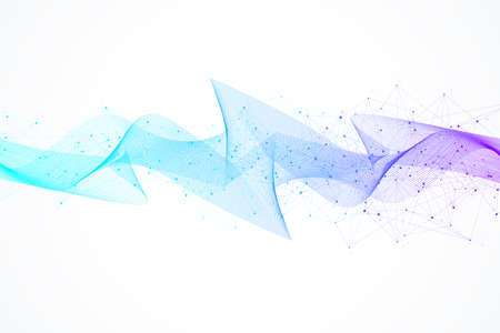 Abstract wave background. Geometric template for your design brochure, flyer, report, website, banner, illustration.