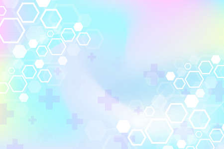 Abstract medical background DNA research, molecule, genetics, genome, DNA chain. Genetic analysis art concept with hexagons, lines, dots. Biotechnology network concept molecule, illustration 免版税图像 - 165491750