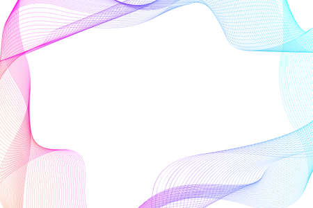 Abstract colorful wave lines background. Geometric template for your design brochure, flyer, report, website, banner, illustration 免版税图像 - 167896833