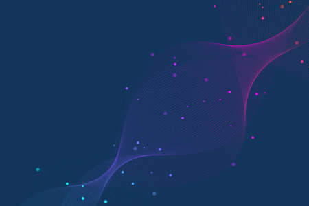 Abstract plexus background with connected lines and dots. Wave flow. Plexus geometric effect Big data with compounds. Lines plexus, minimal array. Digital data visualization, illustration Banque d'images