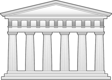 Greek temple, doric order Illustration
