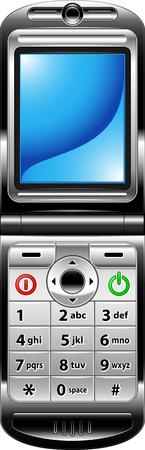 phone button: GSM, blauw en zwart Stock Illustratie