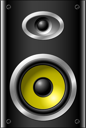 Small speaker, black and yellow Stock Vector - 5226389